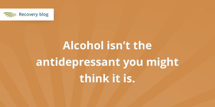 Alcohol Isn't an Antidepressant Banner