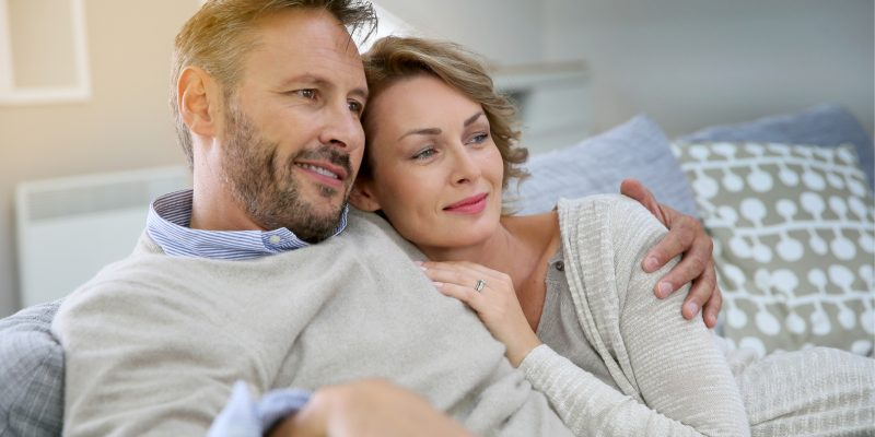 couple on couch at home