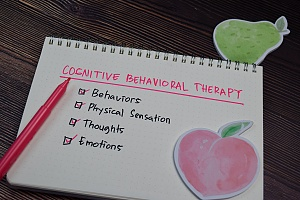 factors related to cbt drawn on white paper with pink marker