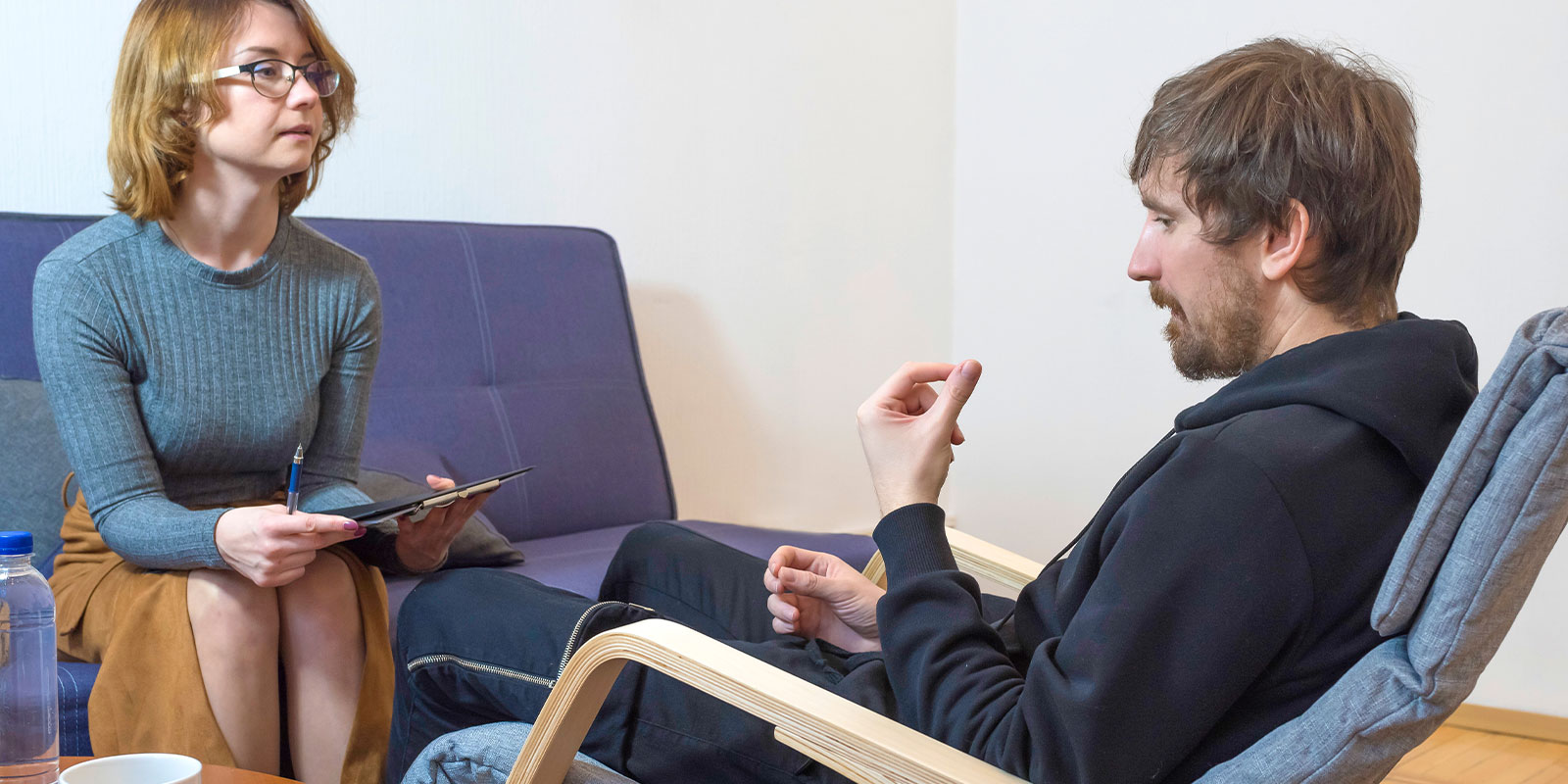 man talking through a Individual Therapy session