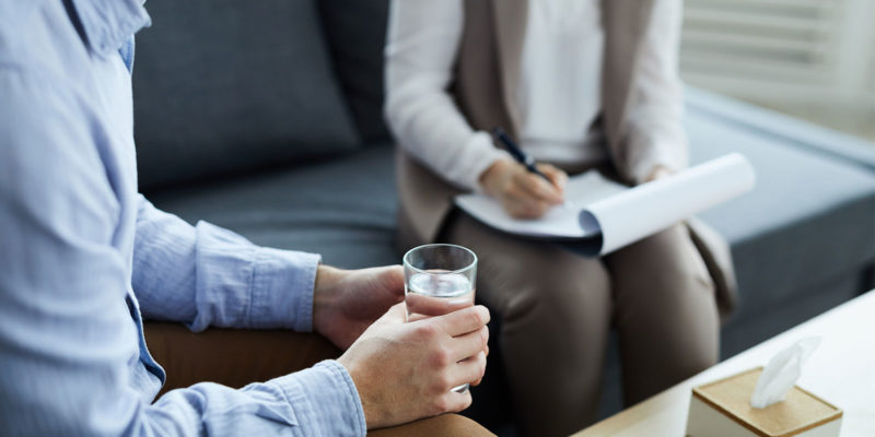 man sitting in Individual Therapy