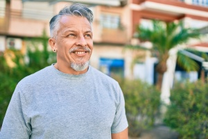 man smiling while in Outpatient Program