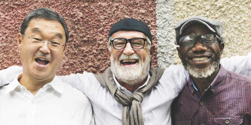 three men happy in their Outpatient Program